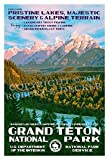 Grand Teton National Park Poster - Original Artwork - 13' x 19' by Rob Decker - WPA Style