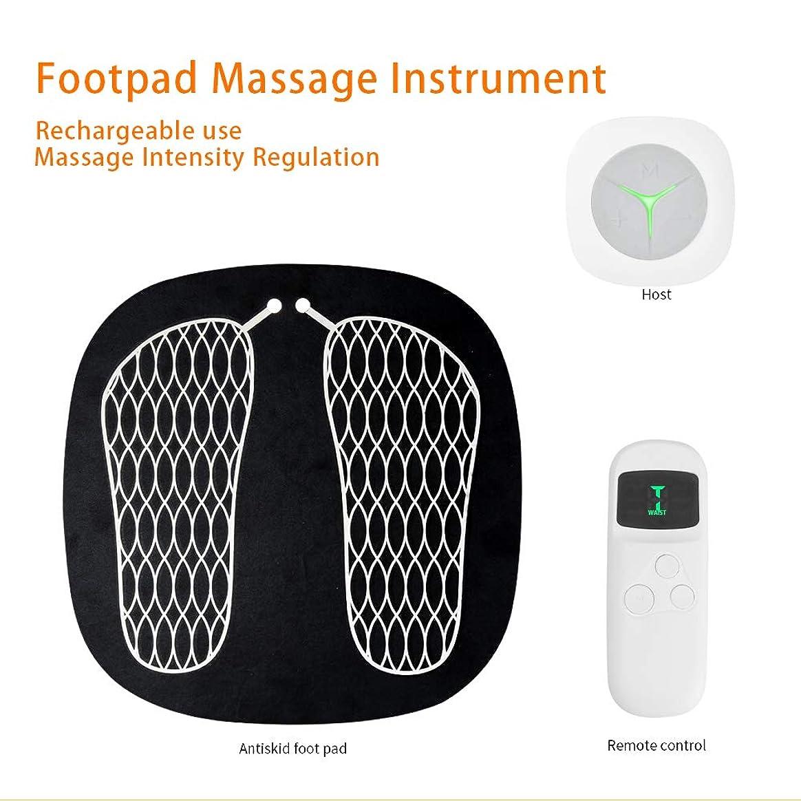 長さ損なう材料指圧式フットマッサージャー、マルチファンクションインテリジェントフットマッサージ、倦怠感軽減、鍼治療のポイント、6モードUSBチャージ,White