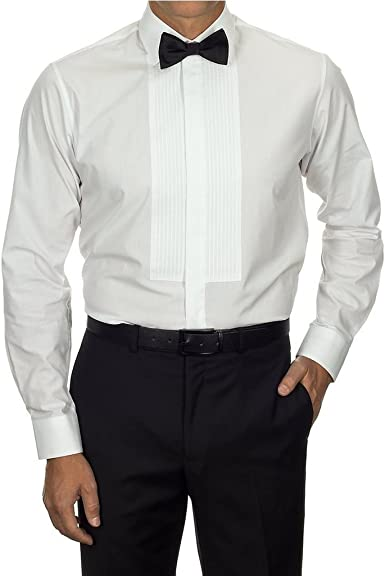 Van Heusen - Camisa con talle estándar y pechera de esmoquin para hombre