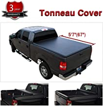 Yumy Tonneau Cover 5.7ft/67in. for 2019+ Ram 1500 Short Bed Lock & Roll Up Soft