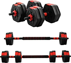 Wesfital Exercise Dumbbell Sets Adjustable Weight 22/33/44/55/68/88LBS Strength Training Barbell Exercise Dumbbells for Ho...