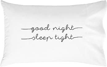 Oh, Susannah Good Night Sleep Tight Kids Pillowcase (2 Lines) - Fun Kids Quote Pillowcase - (One 20x30 Inch Pillowcase Fits Standard Size Pillow) Kids Room Decor