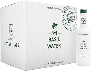 No.1 Botanicals Agua Aromatizada con Albahaca – Agua con Gas con Extracto Orgánico de Albahaca - Sin azúcar ni Edulcorantes – Soft Drink o Cocktail Mixer (12 x 330ml)