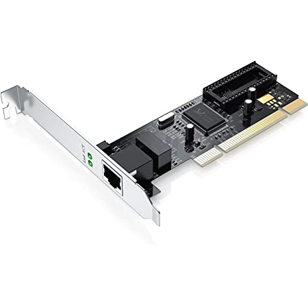 CSL - Scheda di Rete LAN PCI gigabit - Adattatore Fast Ethernet 10 100 1000 DSL - Chipset Realtek - 2000 Mbit Full-Duplex - 32 Bit - PCI Bus 2.2