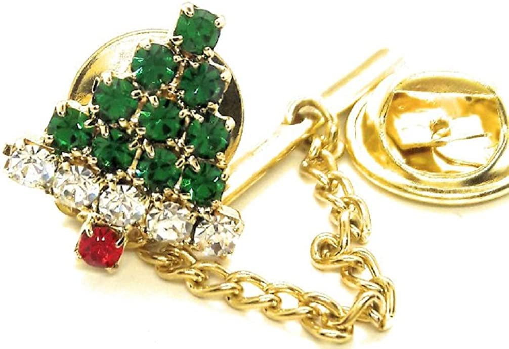 Menz Jewelry New product! New type Accs SWARVORSKI Purchase CYRYSTAL Tree Lap TIE TACK Cristmas