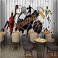 写真の壁紙3D立体空間カスタム大規模な壁紙の壁紙 バスケットボールの壁の装飾リビングルームの寝室の壁紙の壁の壁画の壁紙テレビのソファの背景家の装飾壁画-280X200cm
