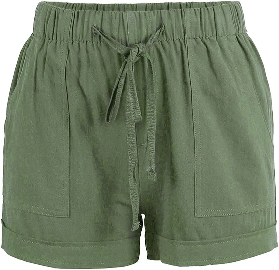 Drawstring Some reservation Pocketed Shorts for Women Lounge Color Max 90% OFF Solid Elastic