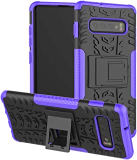 Berry Accessory Galaxy S10 Plus Case,Samsung S10 Plus Heavy Duty Protective Cover Dual Layer Hybrid Shockproof Protective Case with Kickstand Hard Phone Case Cover for Samsung Galaxy S10 Plus Purple