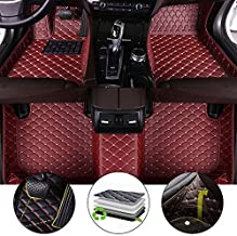 All Weather Floor Mat for 2009-2017 Dodge Journey Full Protection Car Accessories Wine Red 3 Piece Set