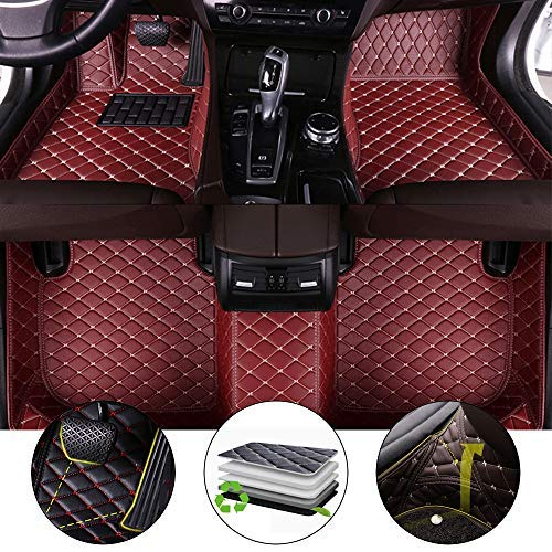 All Weather Floor Mat for Mini Cooper S 2016-2017 Full Protection Car Accessories Wine red Full Set