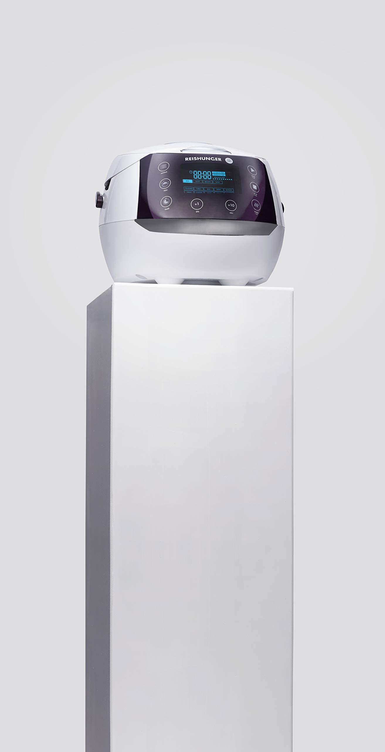 Reishunger - Hervidor de arroz/Arrocera digital (1,5 l/860 W/220 V) Hervidor multifunción con 12 programas, con temporizador y función de conservación del calor - Arroz hasta para 8 personas: Amazon.es: Hogar