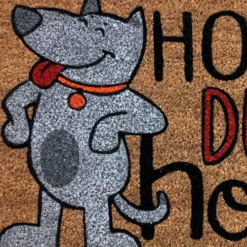 KOKO DOORMATS felpudos Entrada casa Originales, Fibra de Coco y PVC, Felpudo Exterior Perro HOGAR Dulce HOGAR, 40x60x1.5 cm | Alfombra Puerta Entrada casa Exterior | Felpudos Divertidos para Puerta