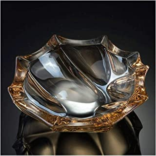 Crystal Glass Ashtray Creative Boyfriend Gift Personality Living Room Decoration 14.5cm (Color : Clear)