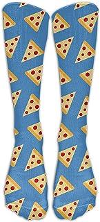 ulxjll, Media Doble Pizza Pattern2 Vent Crew Personalizado Niñas Niños Rodilla Transpirable Calcetines Largos Viaje Divertido Medias 50Cm