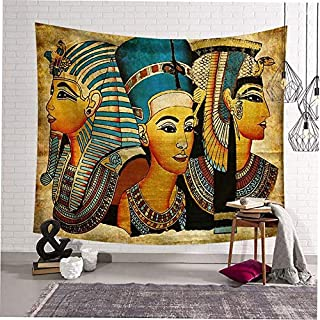 Alter-K-DJ Ancient Egyptian Style Unique Printing Wall Hanging Blanket Tapestry Home Background Decoration for Home Decor