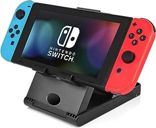 Switch 用 スタンド ホルダー 【Anodontia 】簡単取り外し 折り畳み式 任天堂 スイッチに 用 Nintendo Switch 適用 充電ケーブルを接続したまま使用できる ニンテンドースイッチ用ホルダー 高度角度調整可能