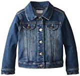 The Children's Place Baby Girls' Toddler Denim Jacket, China Blue, 3T