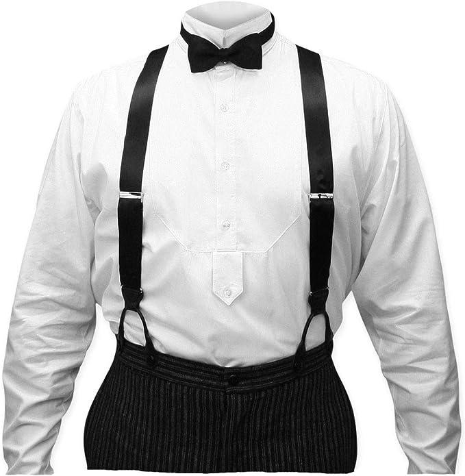 Men's Vintage Style Suspenders Braces Historical Emporium Mens Silk Y-Back Button End Dress Suspenders  AT vintagedancer.com