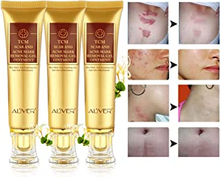 (3 Pack) TCM Scar and Acne Marks Removal Gel, Anti-inflammatory Sterilization - Scars, Burns, Stretch Marks, Acne Spots, Skin Redness Treatment Cream Ointment, Skin Repair for Face and Body