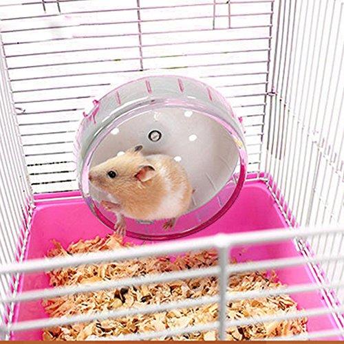 JUILE YUAN Silent Hamster Wheel-Pets Running Sports Exercise Wheel 7