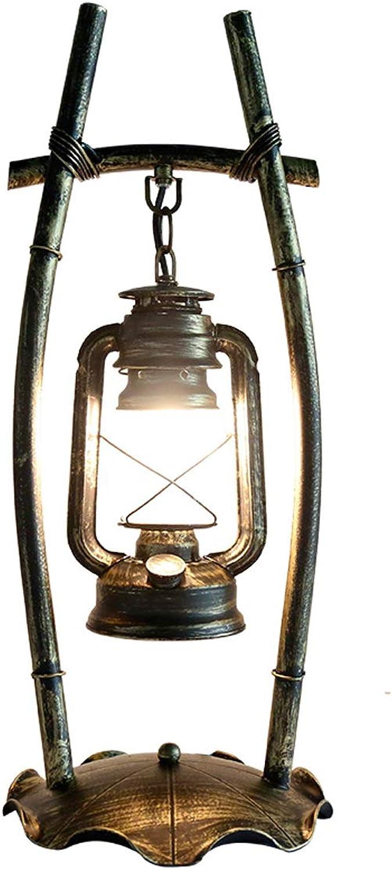 HLQW American Desk Lamp Persönlichkeit Schlafzimmer Schlafzimmer Schlafzimmer Studie Esszimmer Retro Eisen Kunst Petroleumlampe Kreative antike Lampe B07JHYNW9Z     | Mittel Preis  7345a1