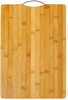 AKOZLIN Thick Bamboo Cutting Board for Kitchen with Handles,Heavy Duty Chopping Board for Meat/Vegetables Fruits Serving T...