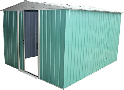 Metallger/ätehaus Eco 5x4 gr/ün Tepro Gartenhaus