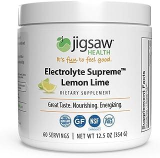 Jigsaw Health - Electrolyte Supreme - Amazing Lemon-Lime Flavor - Broad Spectrum of Electrolytes + trace minerals - 60 Servings per Jar