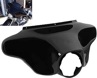 TCMT Black Outer Bat Wing Front Upper Front Fairing Cowl Nose Head Fits For Harley Electra Street Glide Road King FLHR 1996 97 98 99 00 01 02 03 04 05 06 07 08 09 10 11 12 2013