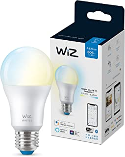 WiZ Tunable Whites A60 E27 - WiFi + Bluetooth Smart LED Bulb - (Compatible with Amazon Alexa and Google Assistant)