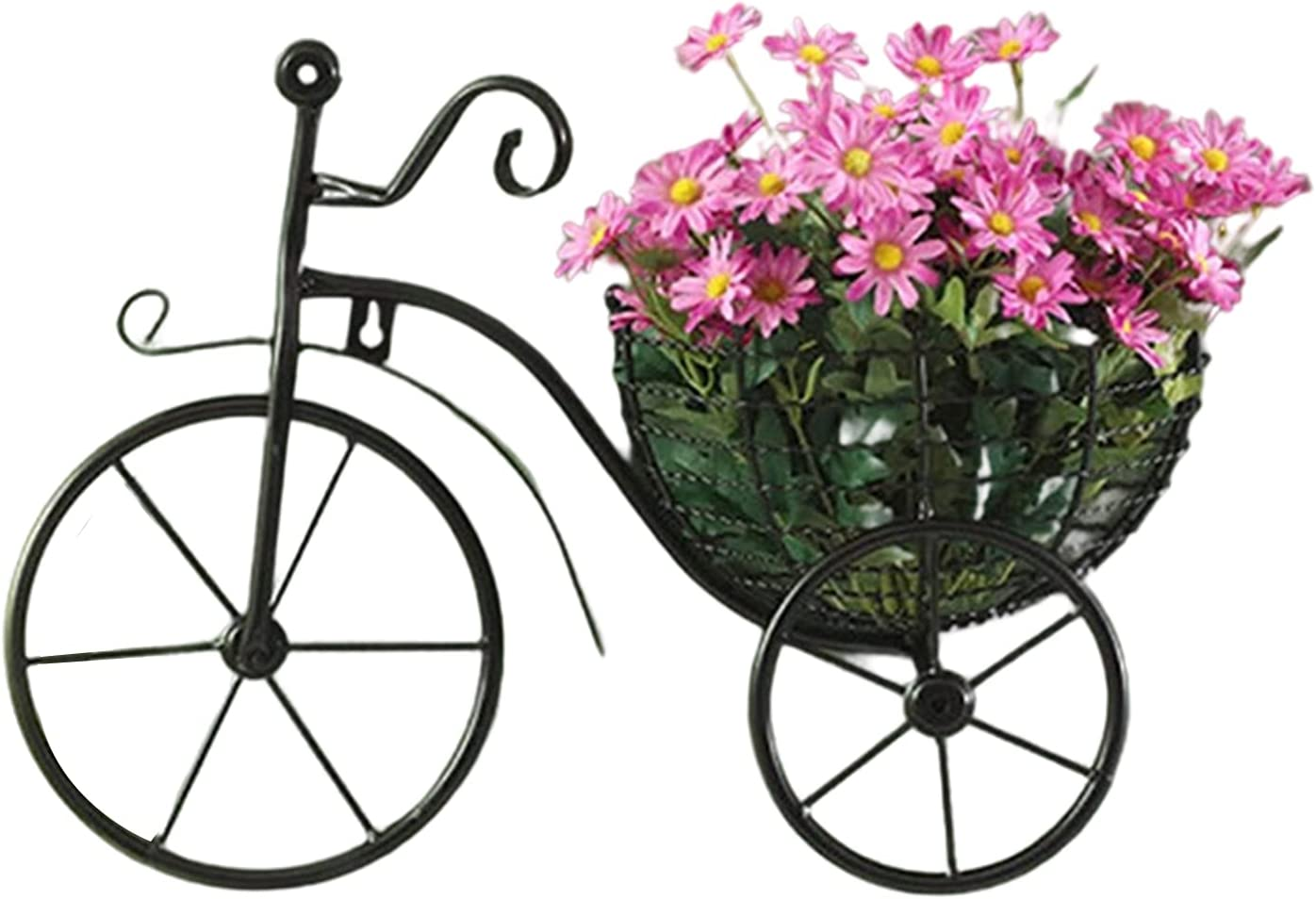 Wrought Iron Hanging Wall Finally popular brand Ornament Flower Bicycle Retro f 35% OFF Basket