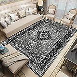 NF Alfombra tradicional grande del norte de Europa vintage para sala de estar, dormitorio, antideslizante, lavable, étnica retro, 40 x 60 cm