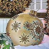 Bola inflable gigante de Navidad de 60 cm para árbol de Navidad | Bola decorativa inflable de PVC | Decoración al aire libre de vacaciones inflables bolas decoración
