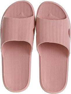 MINISO Women's Comfort Home Flip Flops Bathroom Slippers Thong Open Toe Non Slip (Orchid, 39-40)