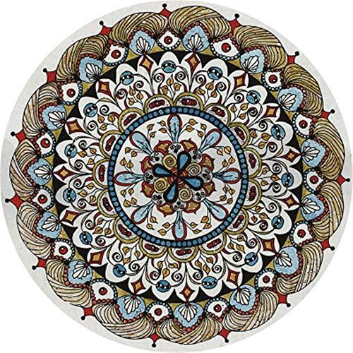 Lzcaure-HO Alfombra de colores nórdicos, étnicos, supersuave, antideslizante, lavable, para entrada, para salón, estilo étnico, color (color: 16, tamaño: 140 cm)