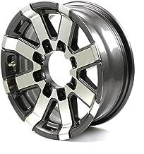 HWT 0777865G 17.5X6.75 8/6.5 Aluminum Series 07 Trailer Wheel - Gray Accent