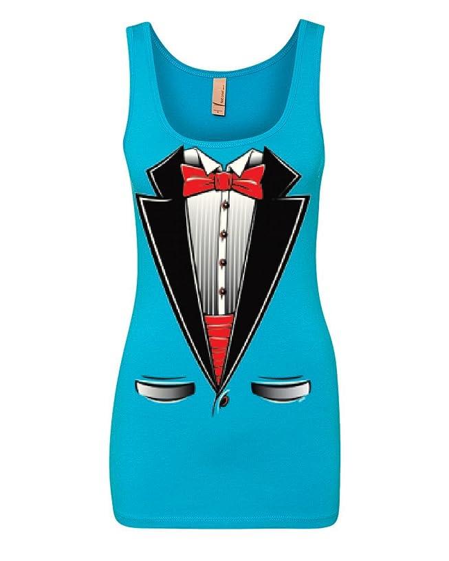 Funny Tuxedo Bow Tie Tank Top Tux Wedding Party Top