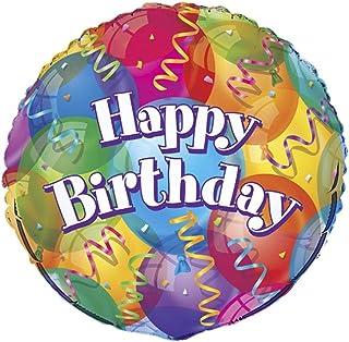 Unique Party Brilliant Birthday' Foil Balloon, Multi 45cm, (18)
