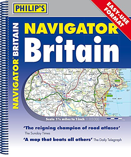 Philip's Navigator Britain Easy-Use Format: Spiral [Idioma Inglés]