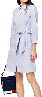 Tommy Hilfiger Womens It Cotton Embroidered Shirtdress