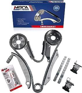 MOCA Timing Chain Kit with Tensioner for 02-06 Chrysler Concorde & Sebring 300 & 05-07 Dodge Magnum Stratus 2.7L V6 DOHC 24V EER Vin Code R - NGC Cam Gear