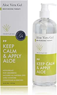 Grace & Stella Aloe Vera Gel (473 mL / 16 fl oz) Large Pump Bottle | For Sunburn Relief, Minor Skin Irritations, Dry Skin, and Moisturizing