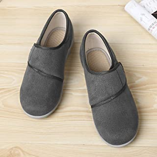 B/H Chaussures pour diabétiques pour Hommes,Chaussures pour Femmes légères antidérapantes, Chaussures de gonflement des Pi...