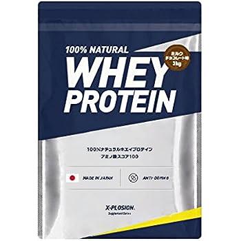 エクスプロージョン ホエイプロテイン 3kg 約100食分 ミルクチョコレート味 大容量 国産