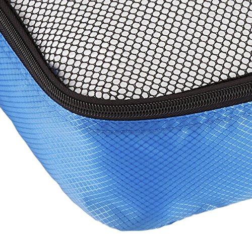 61SMveE+9zL - AmazonBasics - Bolsas de equipaje (2 medianas, 2 grandes; 4 unidades), Azul