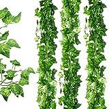 Awtlife - 36 guirnaldas artificiales de hojas de hiedra para colgar en bodas, fiestas, jardines, decoración de pared