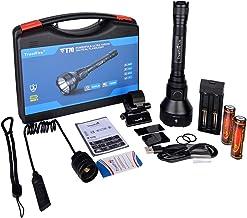 TrustFire T70 zaklamp 2300 lumen met CREE XHP-35 HI LED en 1000 m bereik - 2 x 18650 3400 mAh batterijen, 1 x TR-016 accul...