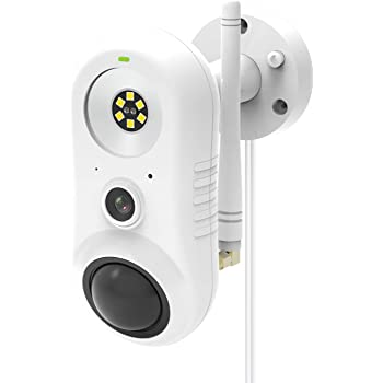 Rreslicam Outdoor Security Camera with Light, Spotlight Cam Wired, 1080P HD Plugged-in 2.4G WiFi Home Surveillance Camera, Two-Way Talk and Siren Alarm, Waterproof, Night Vision, Works with Alexa