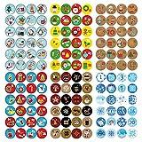 Dekewe Adesivi Calendario Dell'Avvento, 1-24 Numeri Adesivi Natalizi, Numeri Adesivi Calendario avvento, Etichette Adesive Numero Rotondi, Adesivi Natalizi per Regali Fai da Te, Decorazioni Natalizie