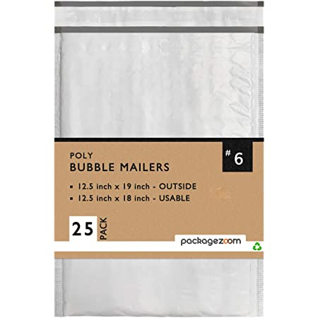 Pack of 10 Padded Shipping Envelope Mailers Secure Seal #7 14.25x20 Poly Bubble Mailers
